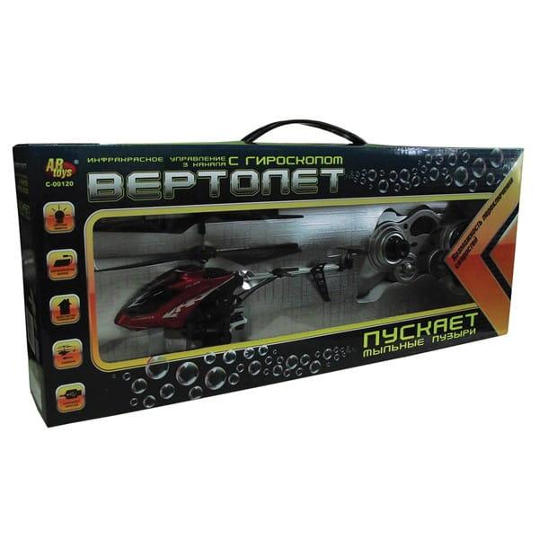 Купить Радиоуправляемый вертолет Abtoys с функцией запуска мыльных пузырей в интернет магазине игрушек и детских товаров