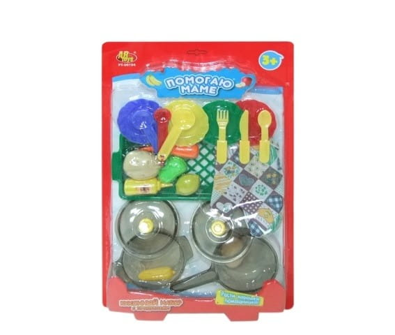 Кухонный набор с продуктами Abtoys Помогаю маме - 22 предмета