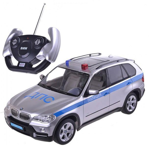 Радиоуправляемая машина со световыми эффектами RASTAR BMW X5 полицейская 1:14