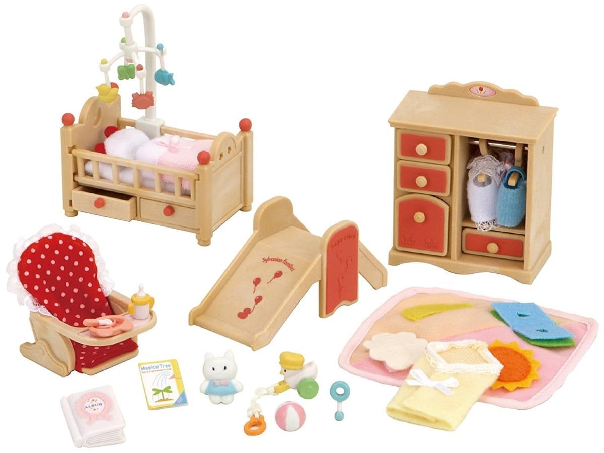 Игровой набор Sylvanian Families 2954 Детская комната с горкой