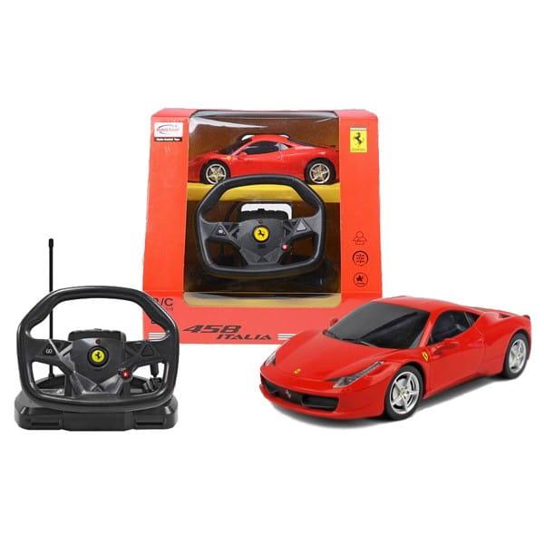 Радиоуправляемая машина Rastar Ferrari Italia 458 1:18 (с пультом управления в виде руля)