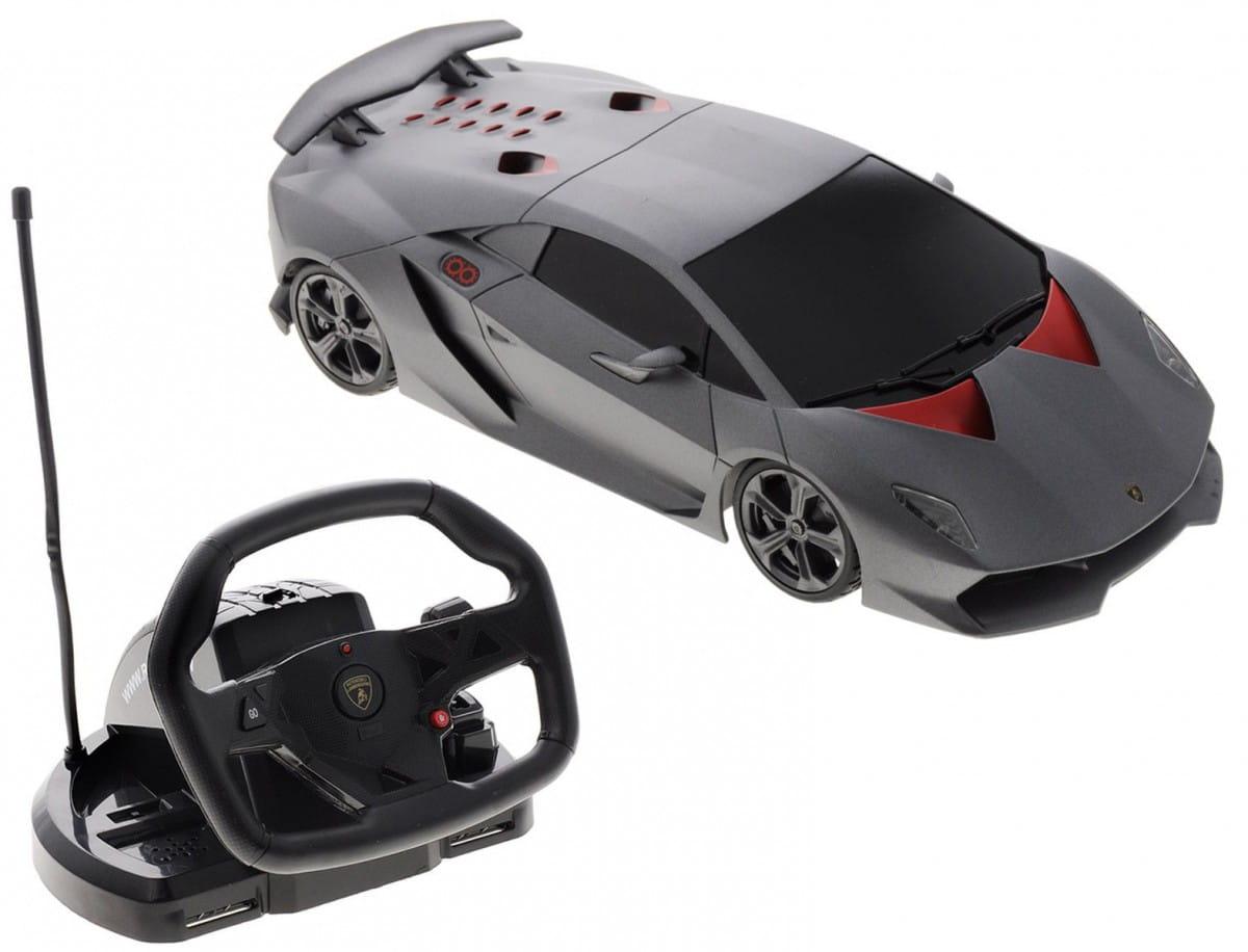 Радиоуправляемая машина Rastar 53700-10 Lamborghini Sesto Elemento 1:18 (с пультом управления в виде руля)