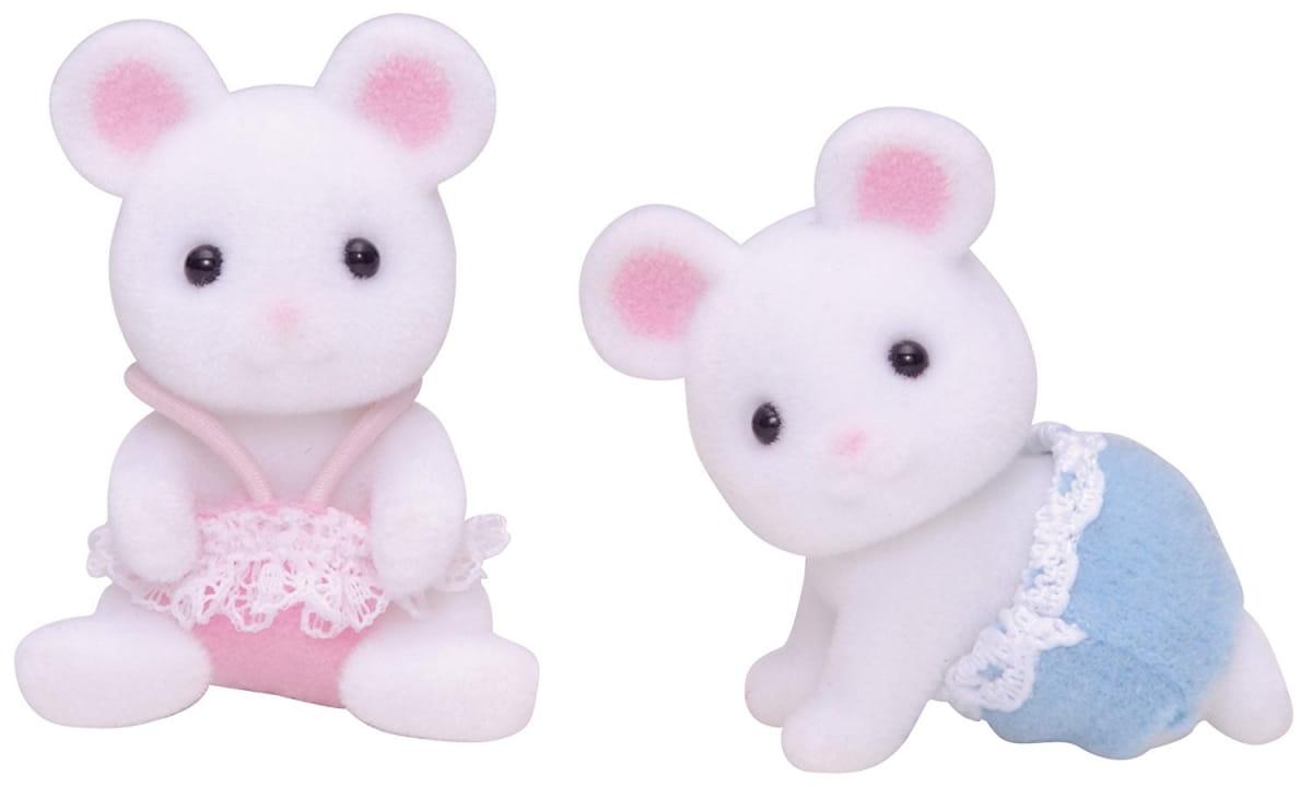 Игровой набор Sylvanian Families 3221 Белые мышата-двойняшки