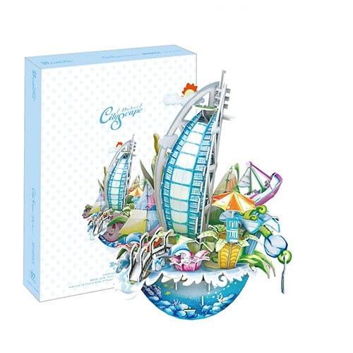 Купить Объемный 3D пазл CubicFun Городской пейзаж - Дубаи в интернет магазине игрушек и детских товаров