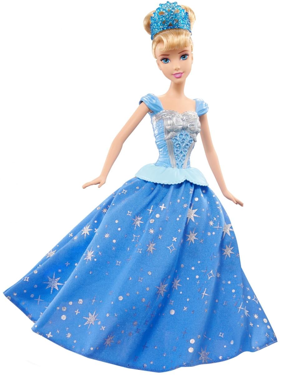 Кукла DISNEY PRINCESS Принцесса Золушка с развевающейся юбкой (Mattel)
