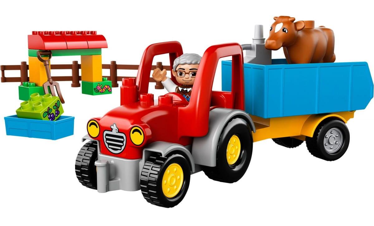 Купить Конструктор Lego Duplo Лего Дупло Сельскохозяйственный трактор в интернет магазине игрушек и детских товаров