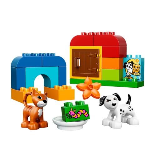 Купить Конструктор Lego Duplo Лего Дупло Лучшие друзья - Кот и пес в интернет магазине игрушек и детских товаров