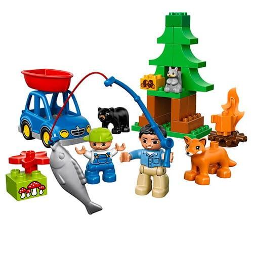 Купить Конструктор Lego Duplo Лего Дупло Рыбалка в лесу в интернет магазине игрушек и детских товаров