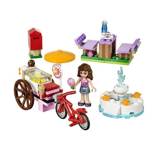 Купить Конструктор Lego Friends Лего Подружки Оливия и велосипед с мороженым в интернет магазине игрушек и детских товаров