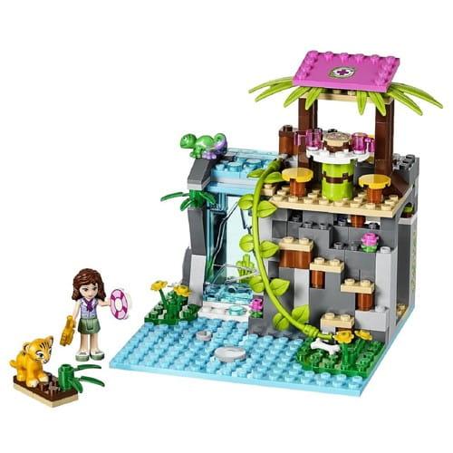 Купить Конструктор Lego Friends Лего Подружки Джунгли - Спасение тиргенка у водопада в интернет магазине игрушек и детских товаров