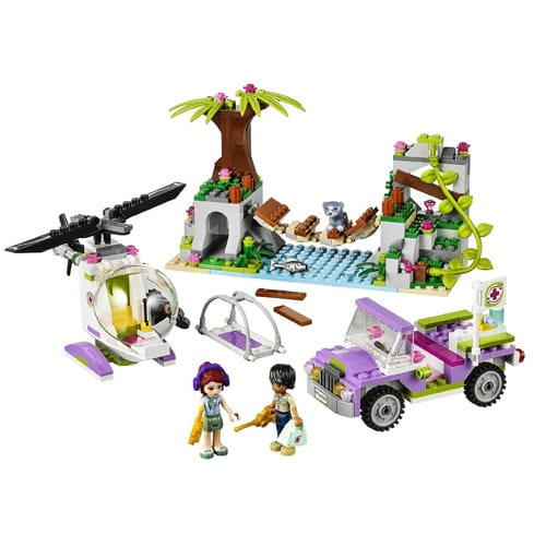 Купить Конструктор Lego Friends Лего Подружки Джунгли - Спасательная операция на мосту в интернет магазине игрушек и детских товаров