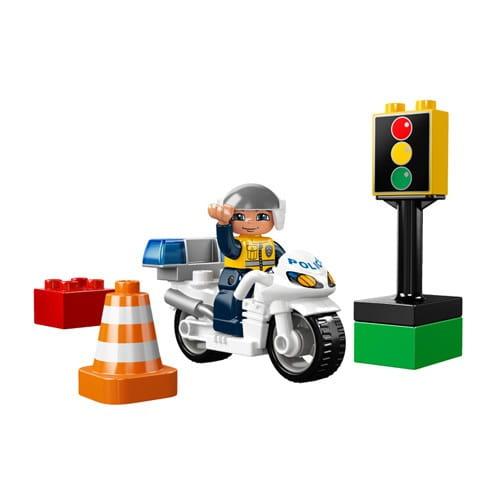 Купить Конструктор Lego Duplo Лего Дупло Полицейский мотоцикл в интернет магазине игрушек и детских товаров