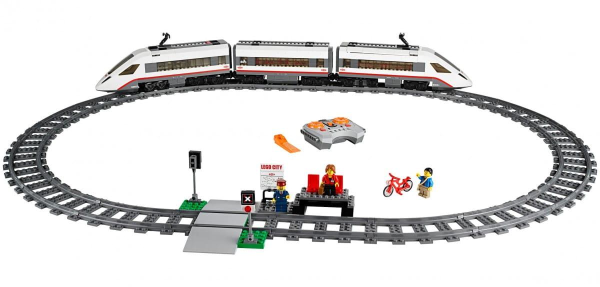 Конструктор Lego City Лего Город Скоростной пассажирский поезд