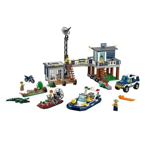 Конструктор Lego City Лего Город Участок новой Лесной Полиции