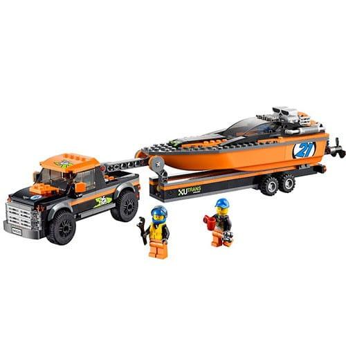 Конструктор Lego City Лего Город Внедорожник 4x4 с гоночным катером