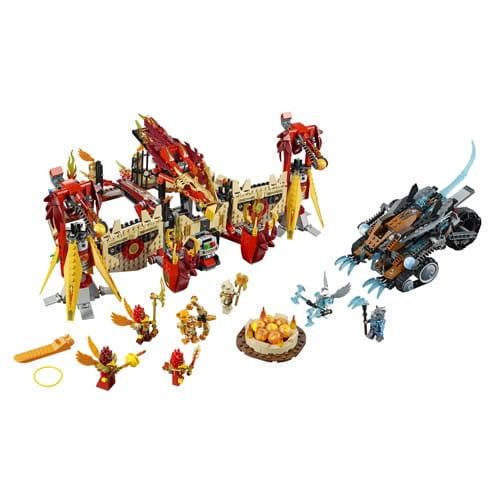 Купить Конструктор Lego Legends of Chima Лего Легенды Чимы Огненный летающий Храм Фениксов в интернет магазине игрушек и детских товаров