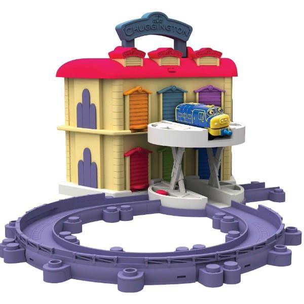 Игровой набор Chuggington LC54217 Die-Cast Двухэтажное депо с Брюстером