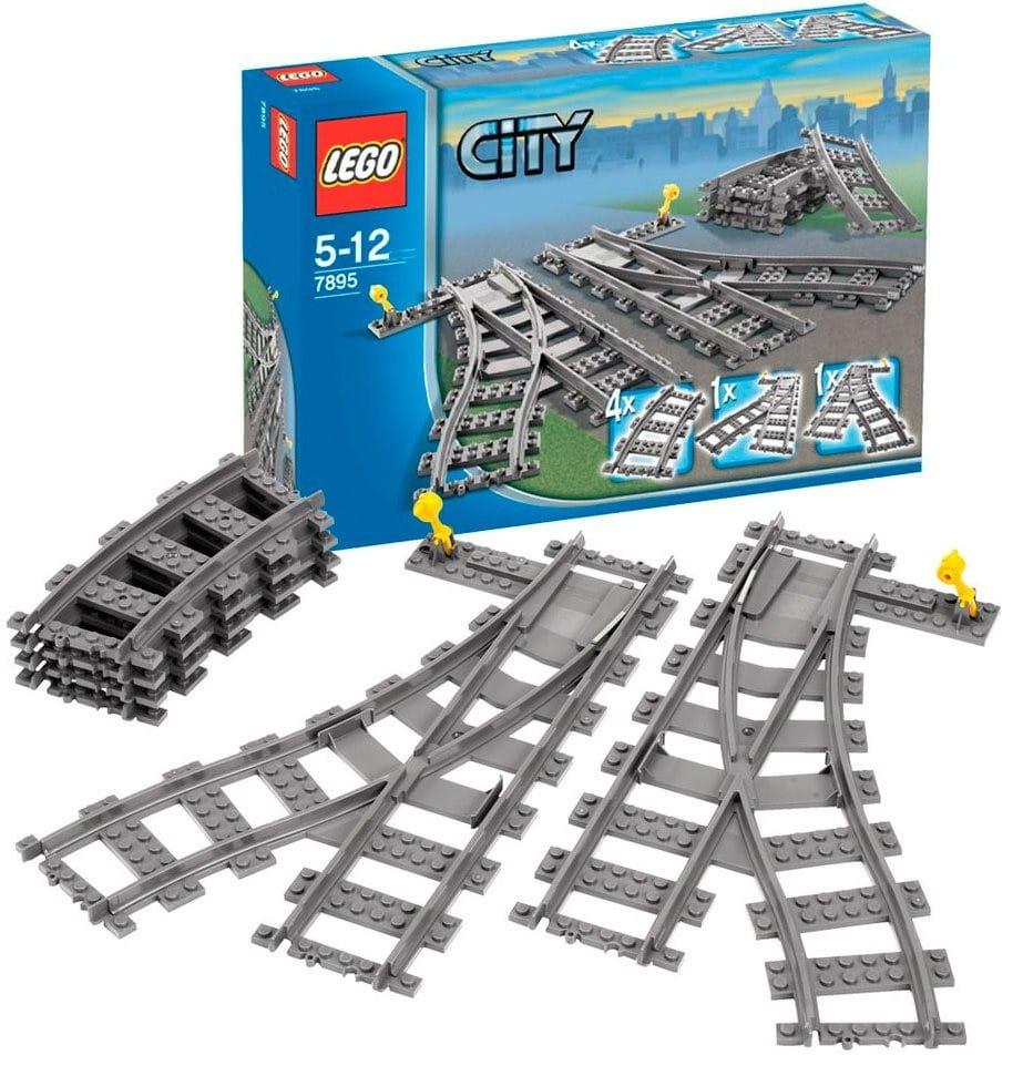 Конструктор LEGO City Лего Город Железнодорожные стрелки