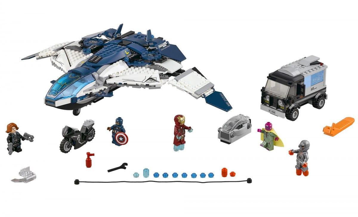 Конструктор Lego Super Heroes Лего Супер Герои Погоня на Квинджете Мстителей