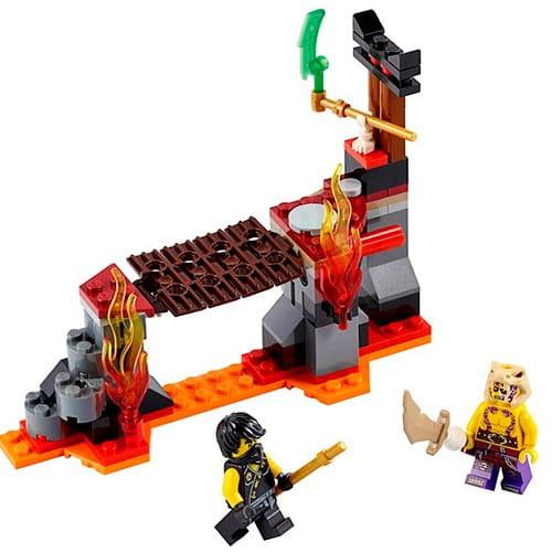 Купить Конструктор Lego Ninjago Лего Ниндзяго Сражение над лавой в интернет магазине игрушек и детских товаров