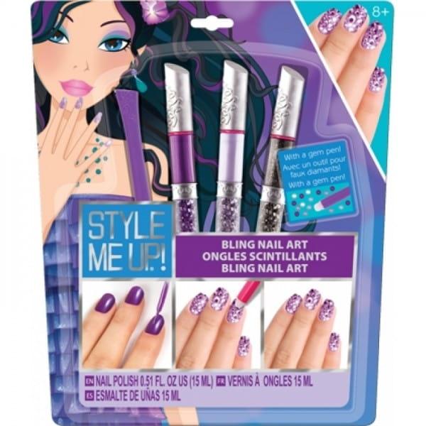 Купить Набор для творчества Style Me Up Художественный маникюр со стразами - фиолетовый в интернет магазине игрушек и детских товаров