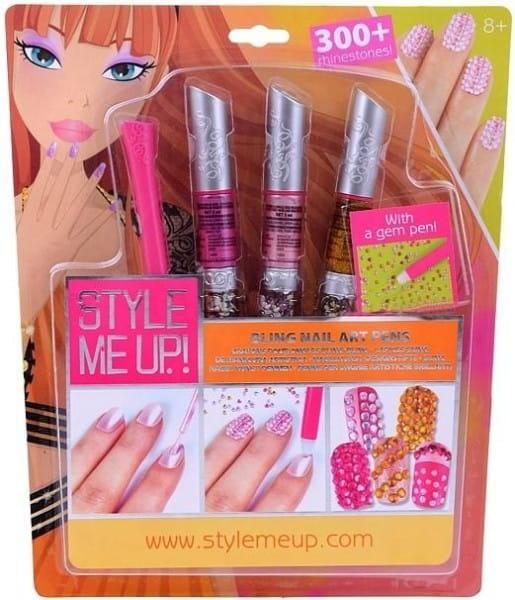 Купить Набор для творчества Style Me Up Художественный маникюр со стразами - розовый в интернет магазине игрушек и детских товаров