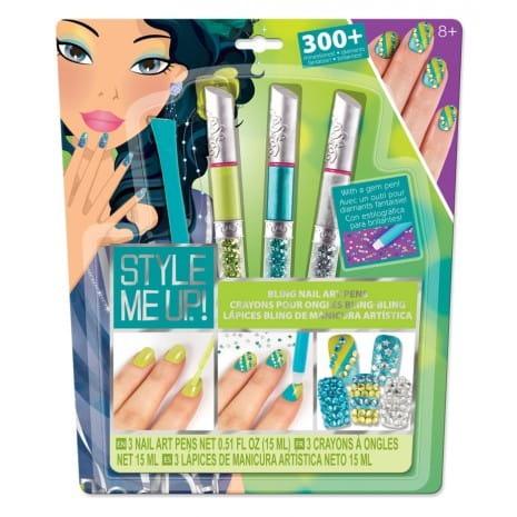 Набор для творчества Style Me Up Художественный маникюр со стразами - голубой
