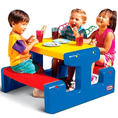 Купить Стол Little Tikes с двумя скамейками на 4 места в интернет магазине игрушек и детских товаров