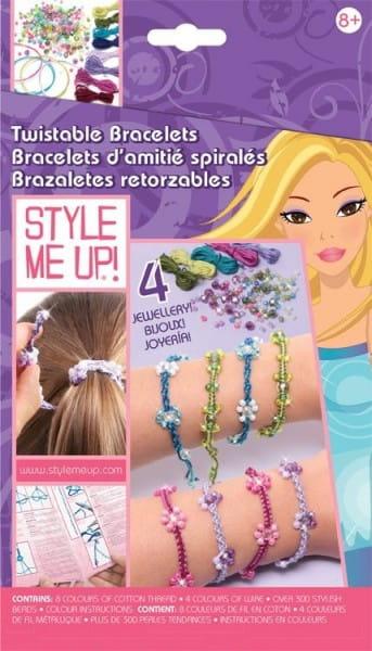 Купить Набор для рукоделия Style Me Up Закручивающиеся браслеты в интернет магазине игрушек и детских товаров