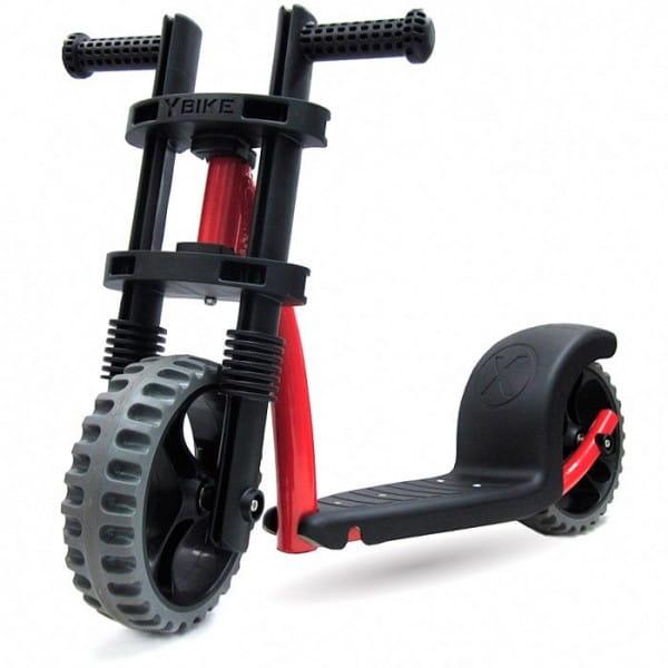Купить Детский Самокат Y-Bike Kicker красный в интернет магазине игрушек и детских товаров