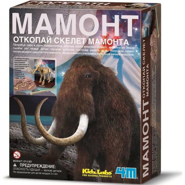 Археологический набор 4M 00-03236 Мир динозавров - Скелет мамонта