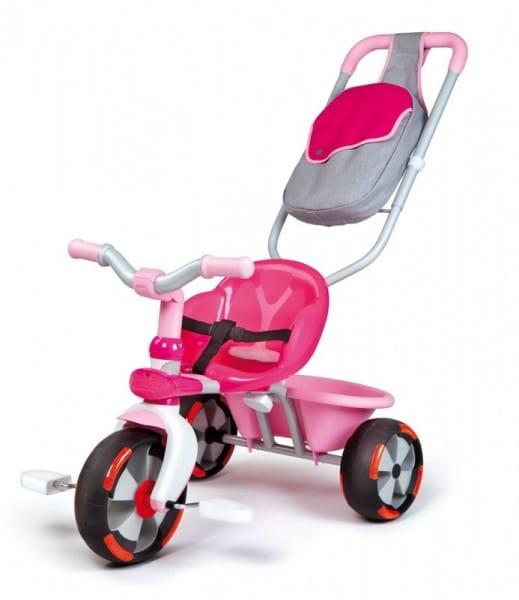 Купить Детский трехколесный велосипед Baby Driver V розовый (Smoby) в интернет магазине игрушек и детских товаров