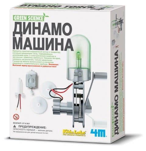 Купить Научно-познавательный набор 4M Динамо машина в интернет магазине игрушек и детских товаров