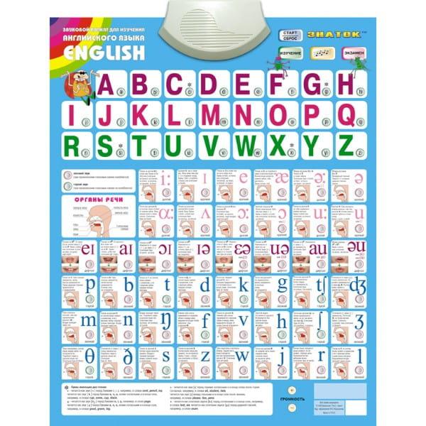 Электронный звуковой плакат Знаток English - Электронные плакаты и игры