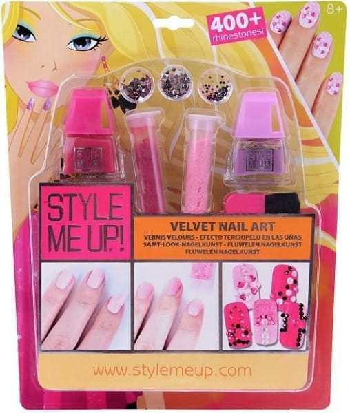 Набор для творчества Style Me Up Бархатный маникюр со стразами - розовый