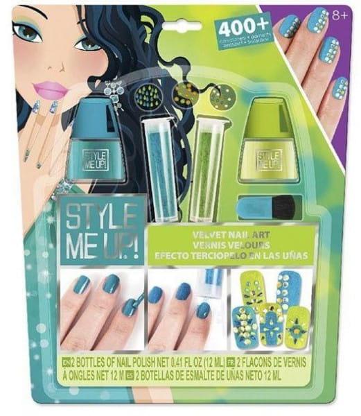 Набор для творчества Style Me Up Бархатный маникюр со стразами - голубой