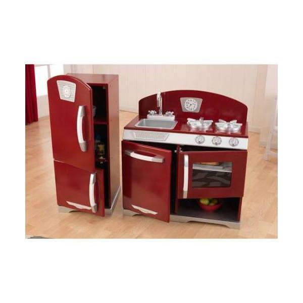 Купить Детская кухня с холодильником KidKraft Ретро - клюква в интернет магазине игрушек и детских товаров