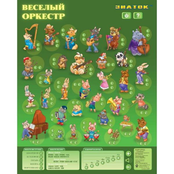 Купить Электронный звуковой плакат Знаток Веселый оркестр в интернет магазине игрушек и детских товаров