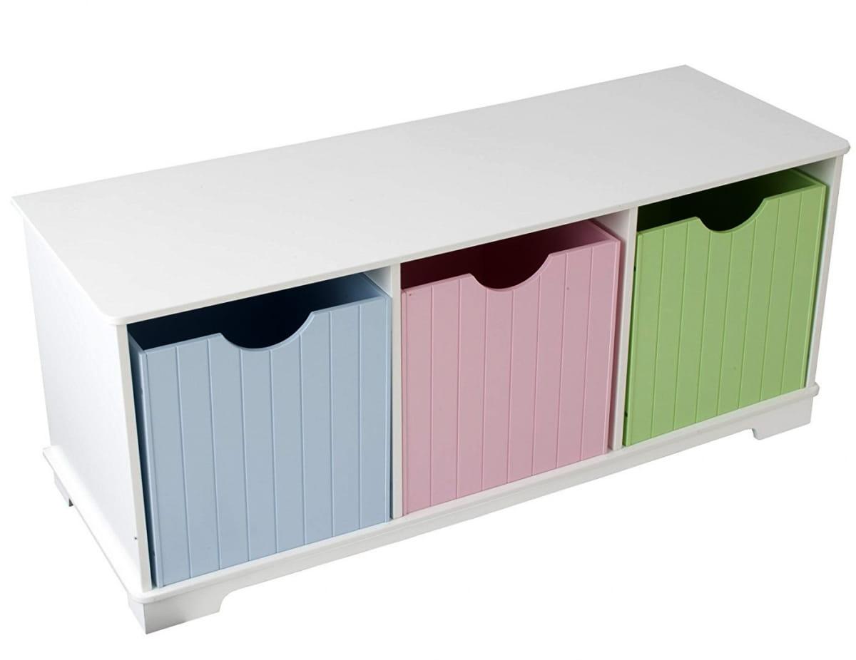 Скамья с ящичками для хранения KidKraft 14565_KE Storage Bench Pastel Пастель