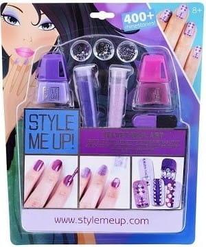 Купить Набор для творчества Style Me Up Бархатный маникюр со стразами - фиолетовый в интернет магазине игрушек и детских товаров