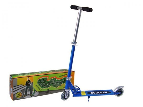 Купить Детский Самокат железный Pro Line - синий в интернет магазине игрушек и детских товаров