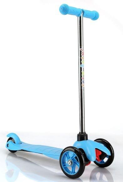 Купить Детский Самокат Moby Kids - голубой (управление наклоном) в интернет магазине игрушек и детских товаров