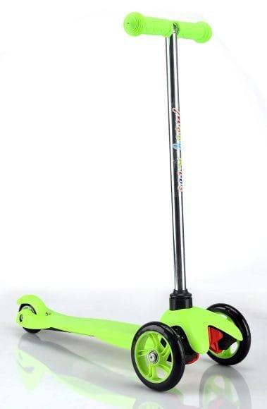 Купить Детский Самокат Moby Kids - зеленый (управление наклоном) в интернет магазине игрушек и детских товаров