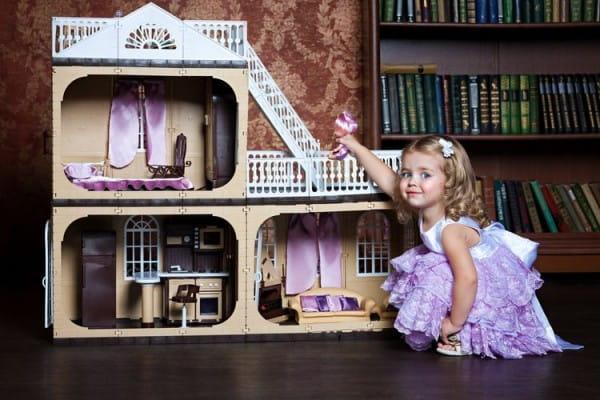 Кукольный домик с мебелью ОГОНЕК Коттедж Коллекция