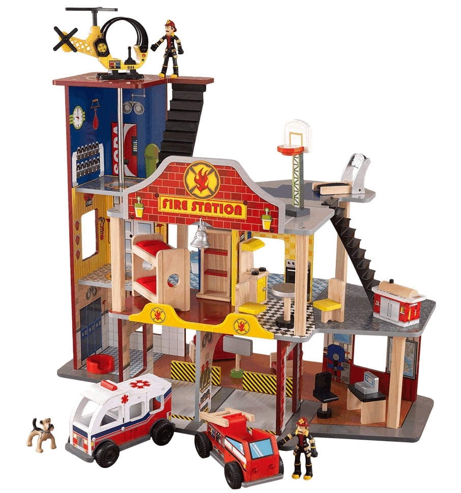 Купить Игровой набор для мальчиков KidKraft Пожарно-спасательная станция в интернет магазине игрушек и детских товаров