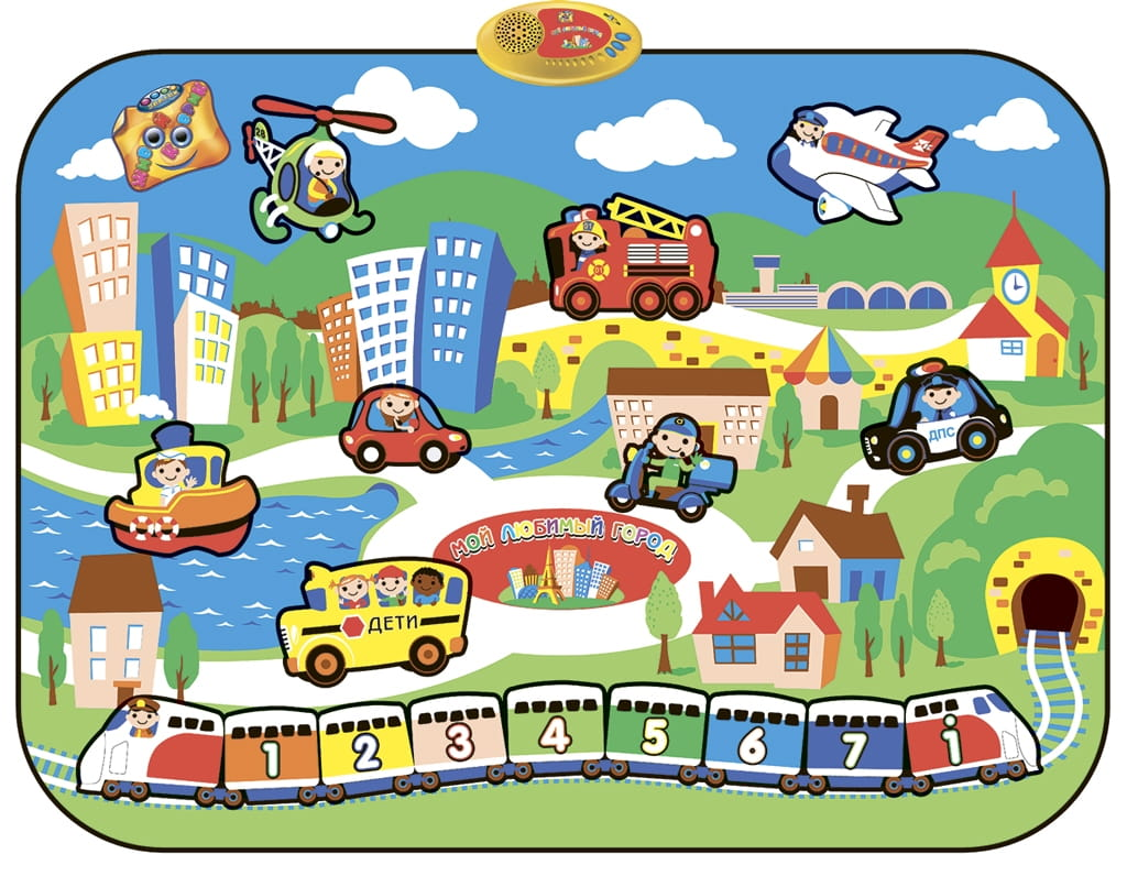 Звуковой коврик ЗНАТОК Мой любимый город - Обучающие интерактивные игрушки