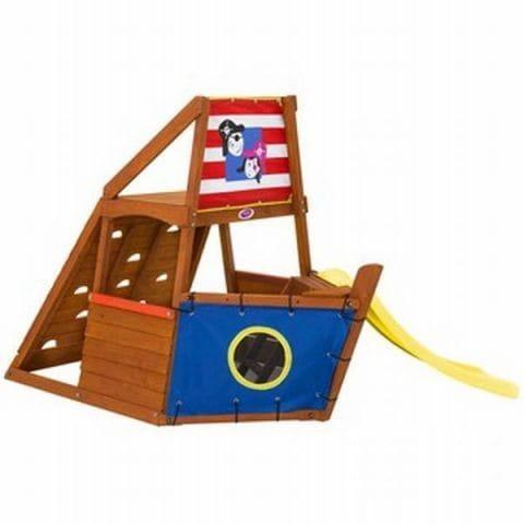Купить Игровой центр Plum Пиратский корабль (с горкой) в интернет магазине игрушек и детских товаров