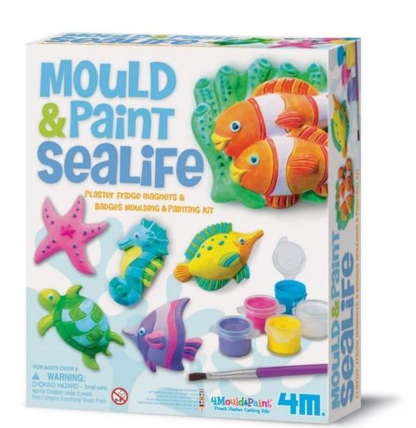 Купить Набор для творчества 4М Морские животные на магнитах в интернет магазине игрушек и детских товаров