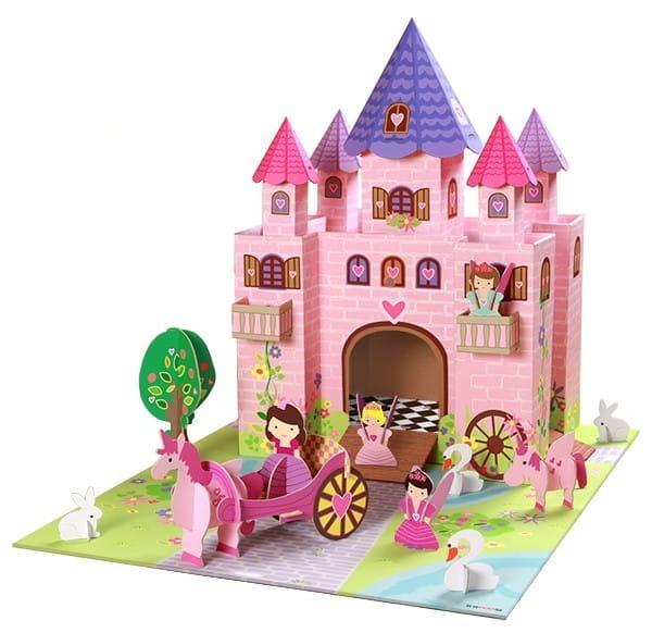 Кукольный домик KROOOM Волшебный замок принцессы Тринни (с аксессуарами и игровым ковриком)