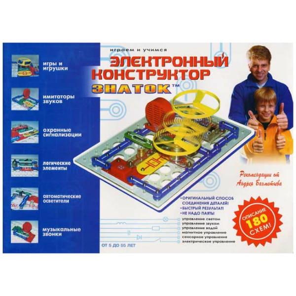 Купить Электронный конструктор Знаток 180 схем в интернет магазине игрушек и детских товаров